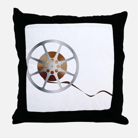 Movie Reel Throw Pillow