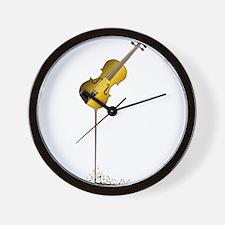 Liquid Violin Wall Clock