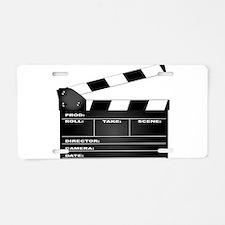 Clapperboard Aluminum License Plate
