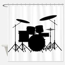 Drum Kit Shower Curtain