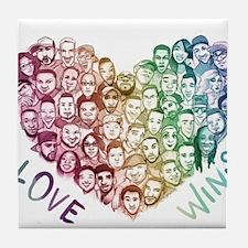 Love Wins Tile Coaster