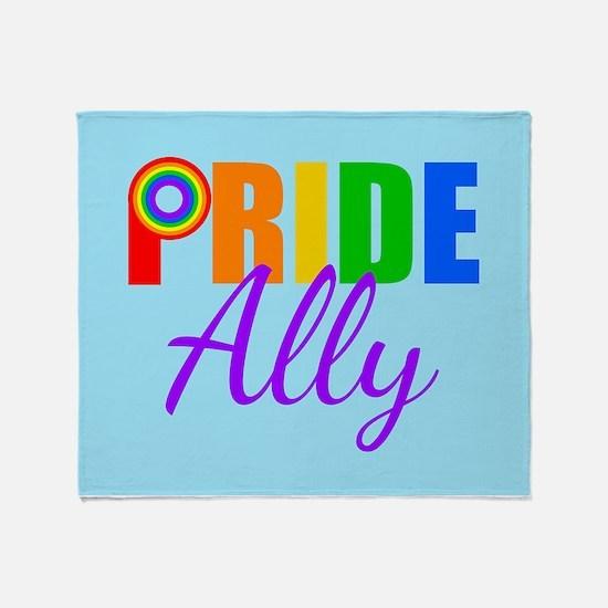 Gay Pride Ally Throw Blanket