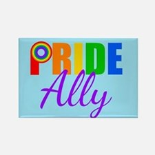 Gay Pride Ally Rectangle Magnet