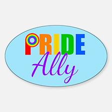 Gay Pride Ally Sticker (Oval)