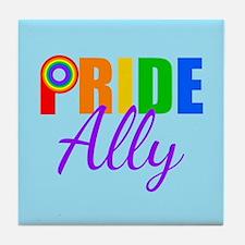 Gay Pride Ally Tile Coaster