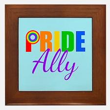 Gay Pride Ally Framed Tile