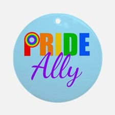 Gay Pride Ally Round Ornament