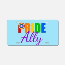 Gay Pride Ally Aluminum License Plate