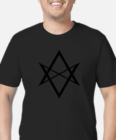Black Unicursal Hexagram T-Shirt