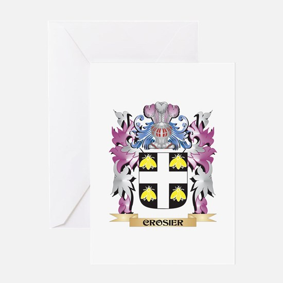 Crosier Coat of Arms (Family Crest) Greeting Cards