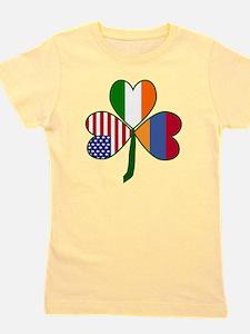 Unique Irish american flag Girl's Tee