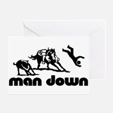 man down cutter Greeting Card