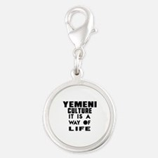 Yemeni Culture It Is A Way Of Silver Round Charm