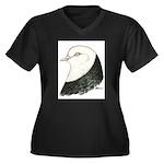 West of England Pigeon Women's Plus Size V-Neck Da
