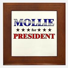 MOLLIE for president Framed Tile