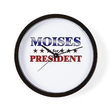 MOISES for president Wall Clock