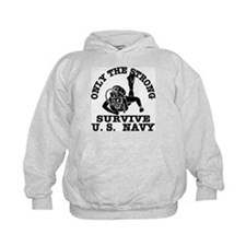 Navy Only Strong Survive Hoodie