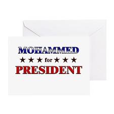 MOHAMMED for president Greeting Card