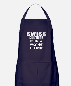 Swiss Culture It Is A Way Of Life Apron (dark)