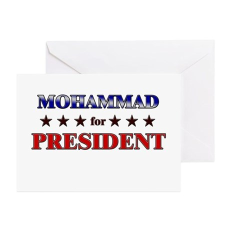 MOHAMMAD for president Greeting Cards (Pk of 10)