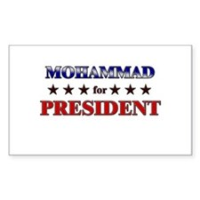 MOHAMMAD for president Rectangle Decal