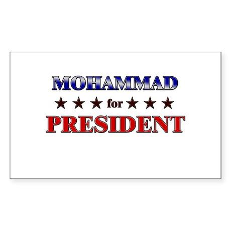 MOHAMMAD for president Rectangle Sticker
