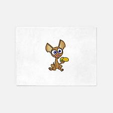 Chihuahua with taco 5'x7'Area Rug