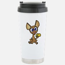 Chihuahua with taco Stainless Steel Travel Mug