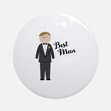 Best Man Round Ornament