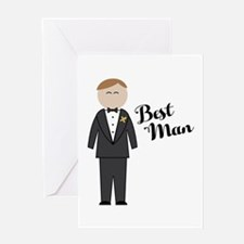 Best Man Greeting Cards