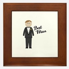 Best Man Framed Tile