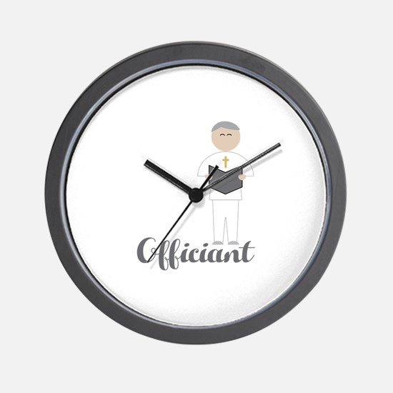 Officiant Wall Clock