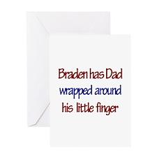 Braden - Dad Wrapped Around Greeting Card