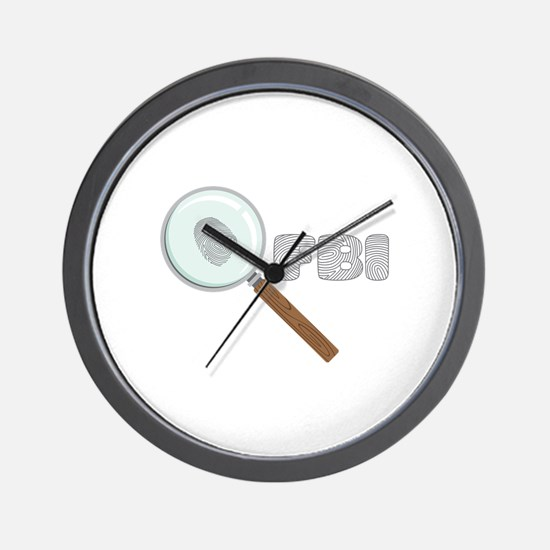 FBI Wall Clock