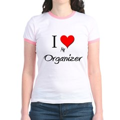 I Love My Organizer Jr. Ringer T-Shirt