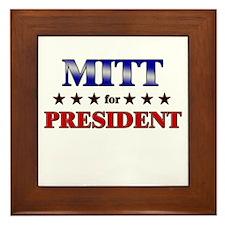 MITT for president Framed Tile