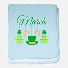 March Mobile baby blanket