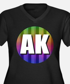 AK Alaska Rainbow Plus Size T-Shirt