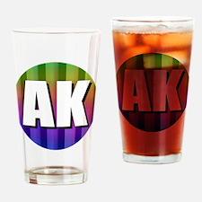 AK Alaska Rainbow Drinking Glass