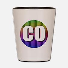 Co Colorado Rainbow Shot Glass