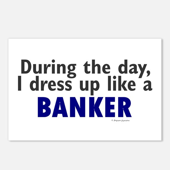 Dress Up Like A Banker Postcards (Package of 8)