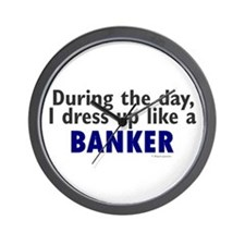 Dress Up Like A Banker Wall Clock