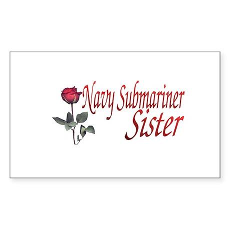 navy submariner rose Rectangle Sticker
