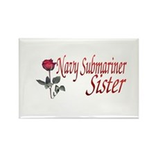 navy submariner rose Rectangle Magnet