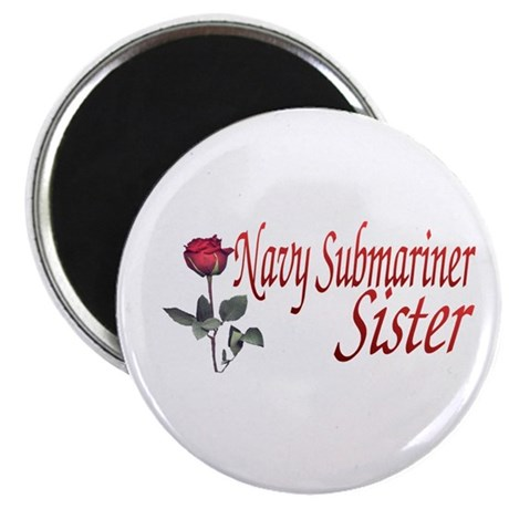 navy submariner rose Magnet