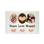 Peace Love Mozart Rectangle Magnet (10 pack)
