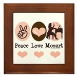 Peace Love Mozart Framed Tile