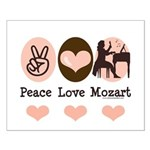 Peace Love Mozart Small Poster