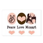Peace Love Mozart Postcards (Package of 8)