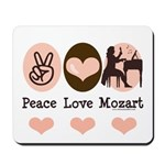 Peace Love Mozart Mousepad
